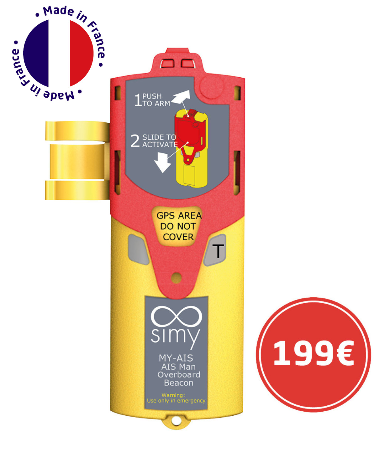 marine emergency beacon, simy my-ais, safety solution, sailing, yachting, life jacket, man overboard